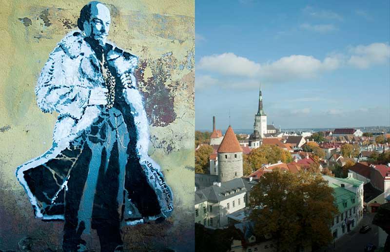 Existing street art by Edward von Lõngus in Tallinn