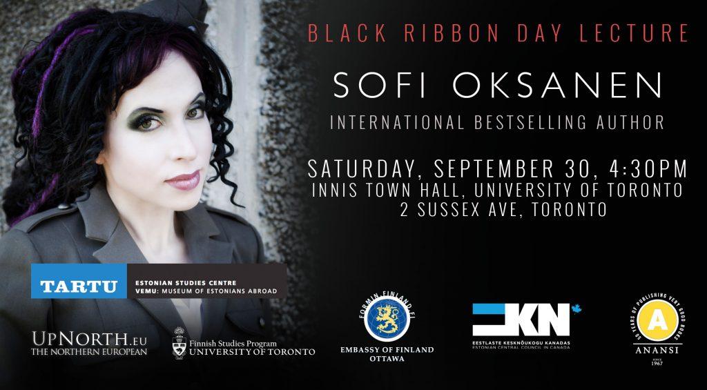 Sofi Oksanen Lecture In Toronto, September 30